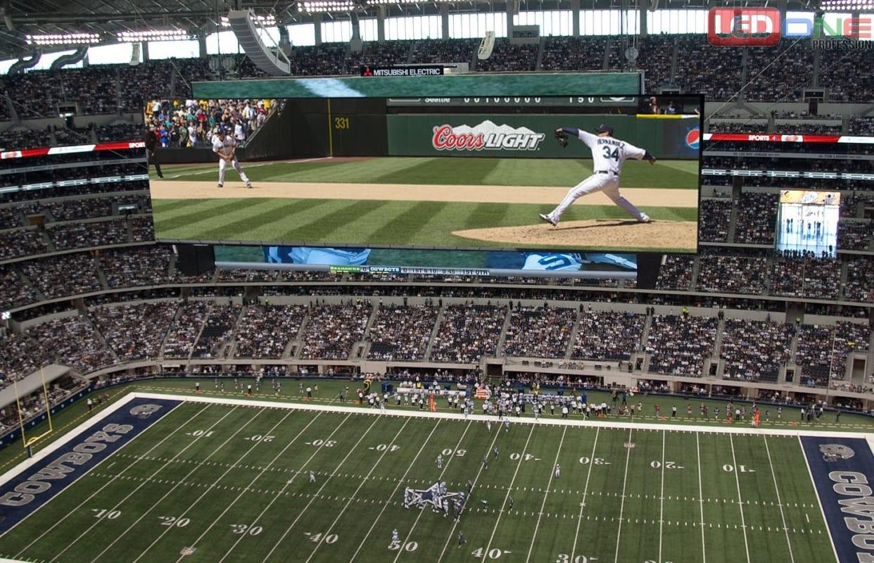 Màn hình Led ngoài trời tại sân vận động Cowboy - Mỹ với kích thước 1078m2