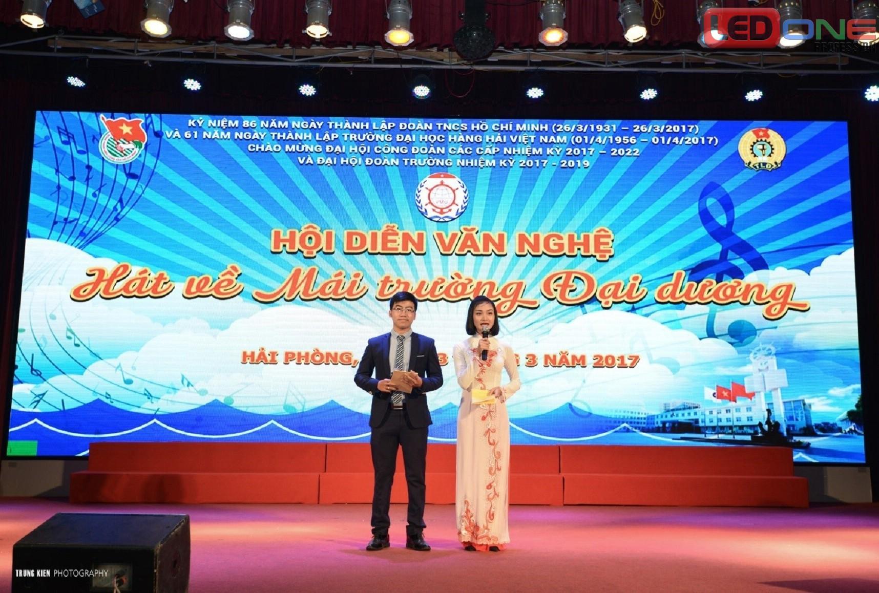 Màn hình Led p5 hội trường tại trường Đại Học hàng hải Việt Nam