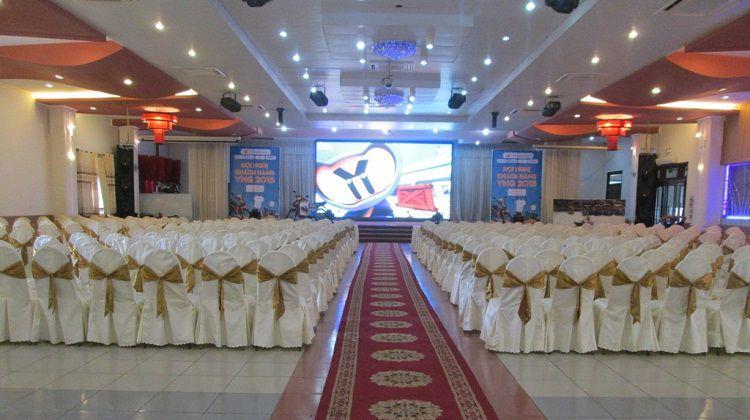 Giải pháp màn hình led nhà hàng tiệc cưới