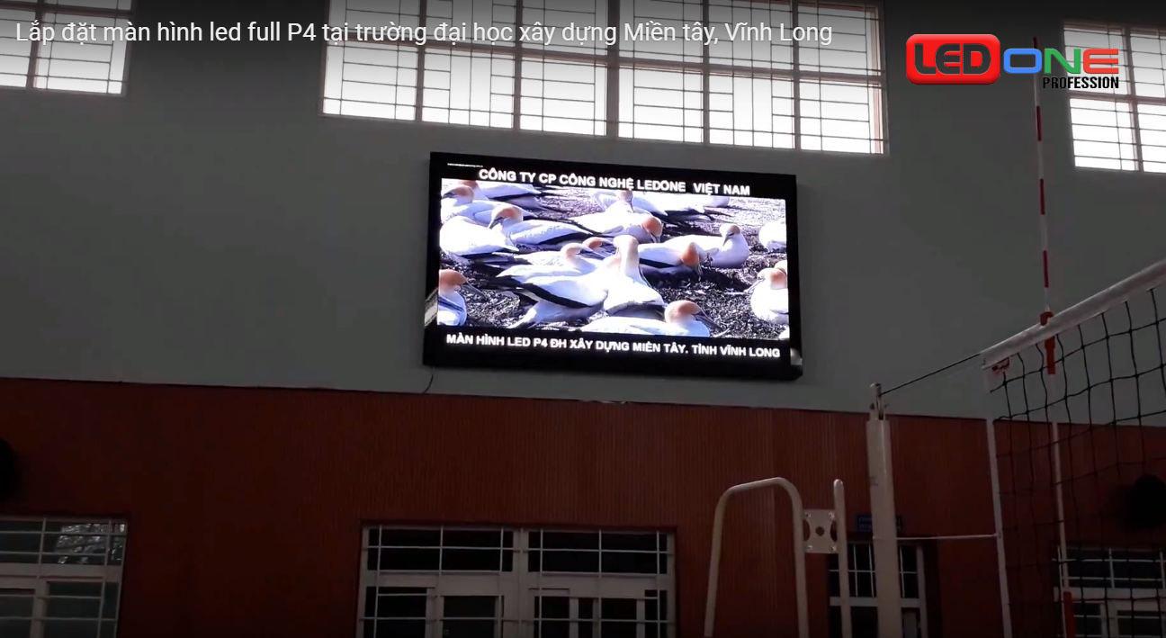 ứng dụng màn hình led trong nhà thi đấu trường học