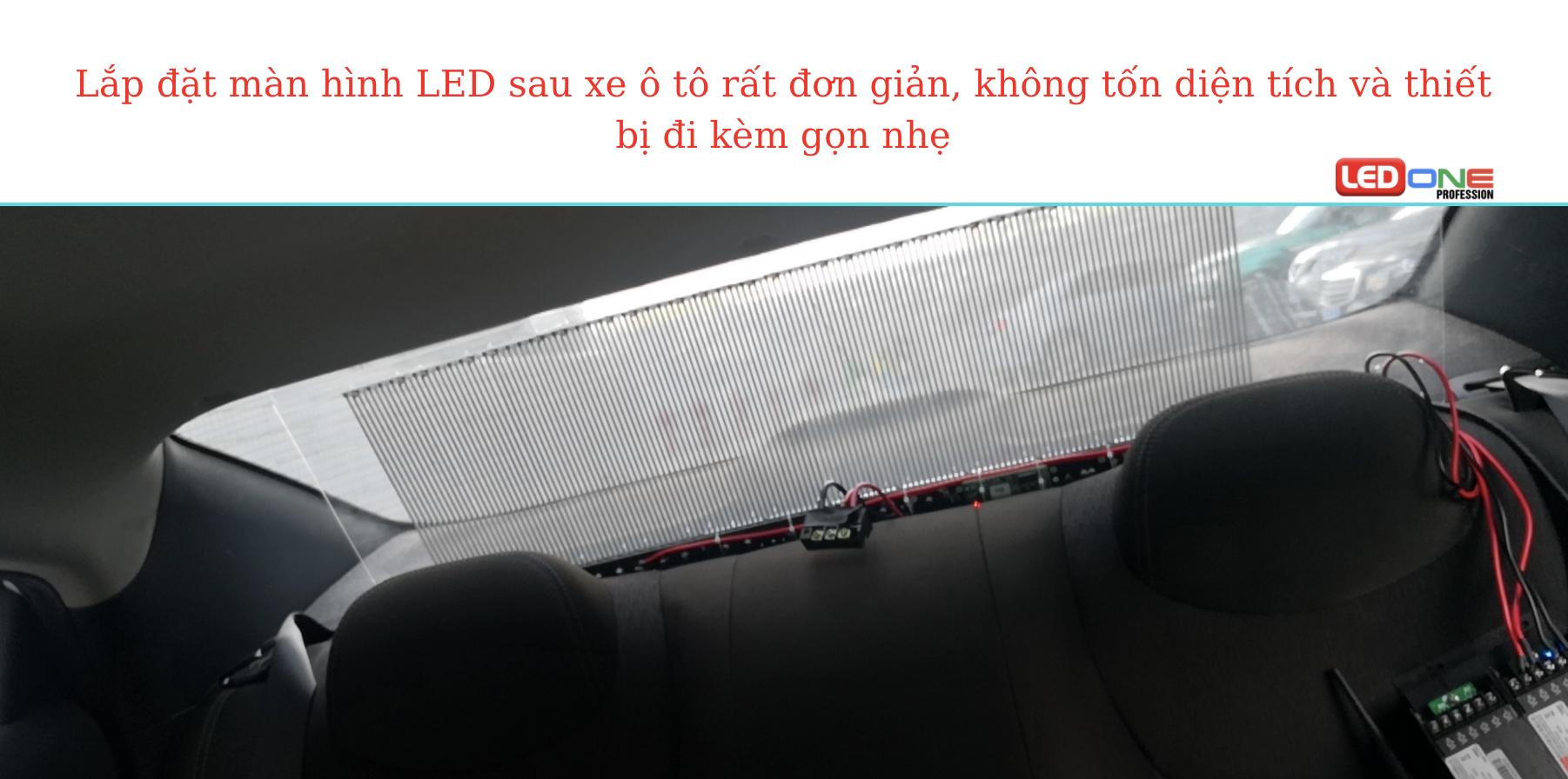 Màn hình LED quảng cáo sau xe ô tô