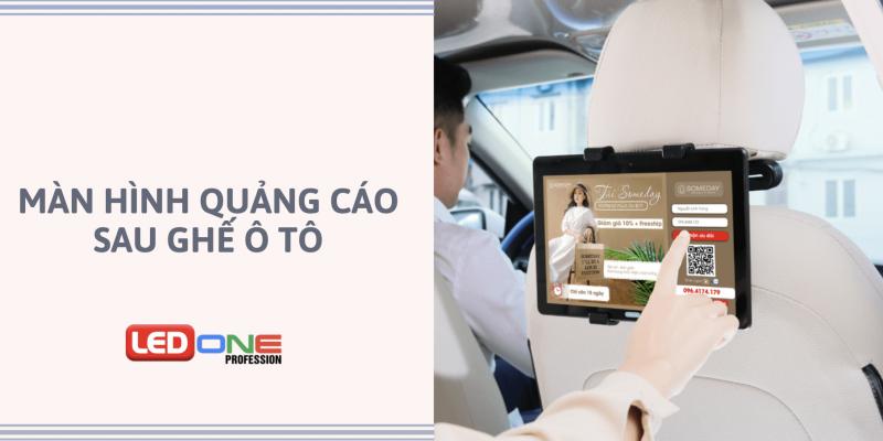 ảnh đại diện màn hình quảng cáo sau ghế ô tô