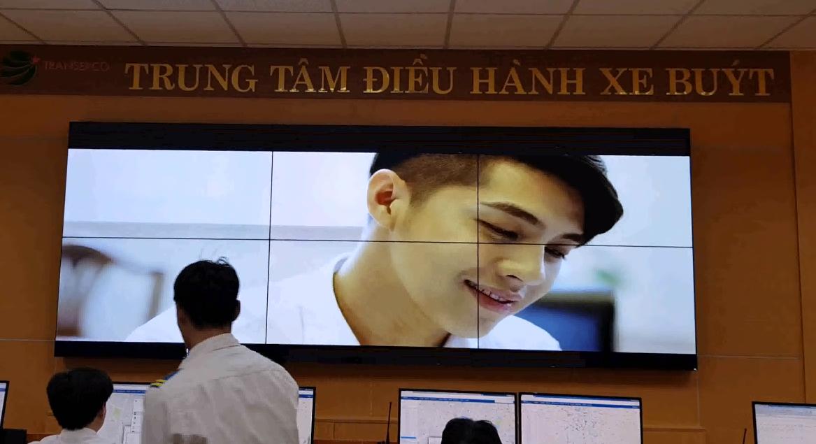 Màn hình ghép thi công tại tổng công ty vận tải Hà Nội