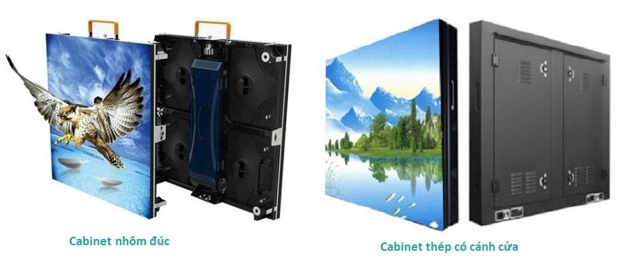 Cabinet nhôm đúc và thép màn hình LED