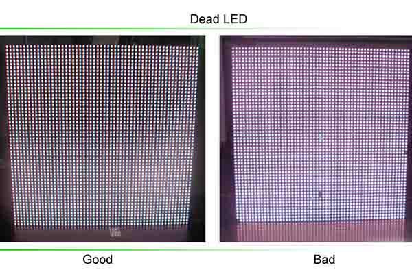 Chết điểm ảnh trên màn hình LED