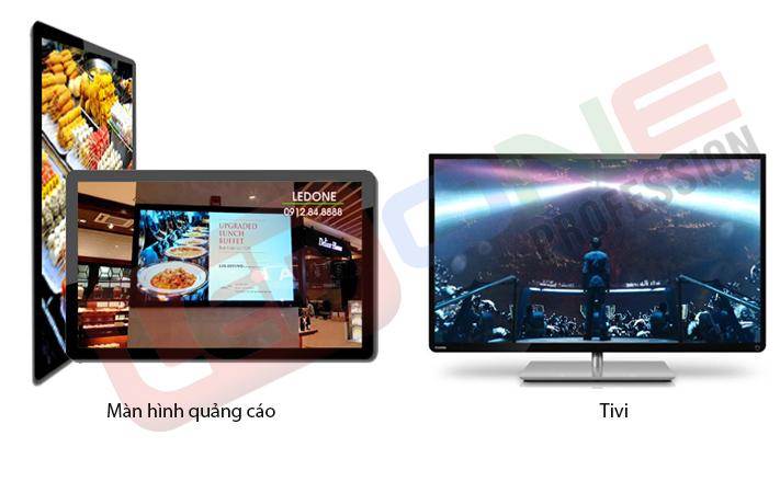 Chọn màn hình quảng cáo thay vì tivi thông thường
