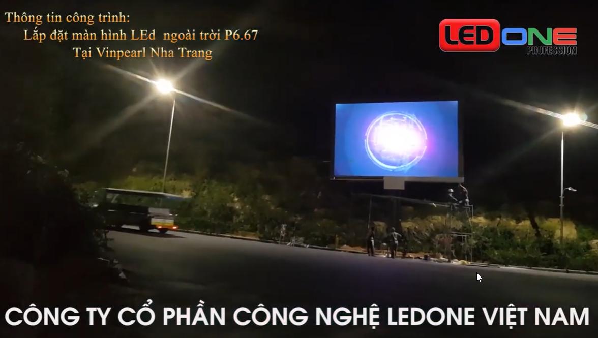 Công trình thi công màn hình Led ngoài trời P6.67 tại khu Resort Vinpearl Nha Trang