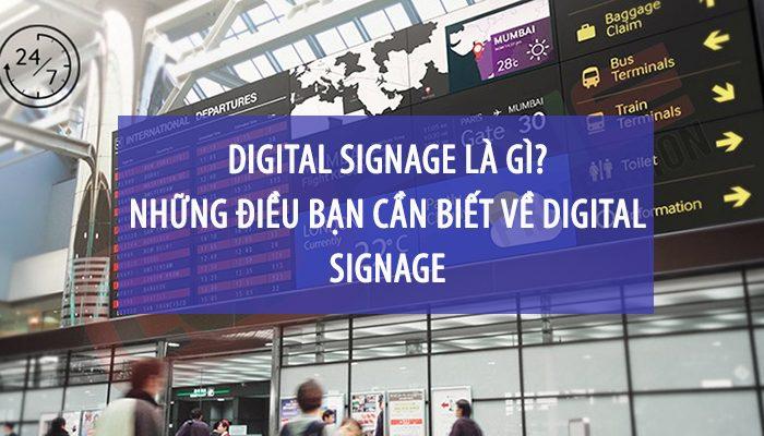Digital signage là gì