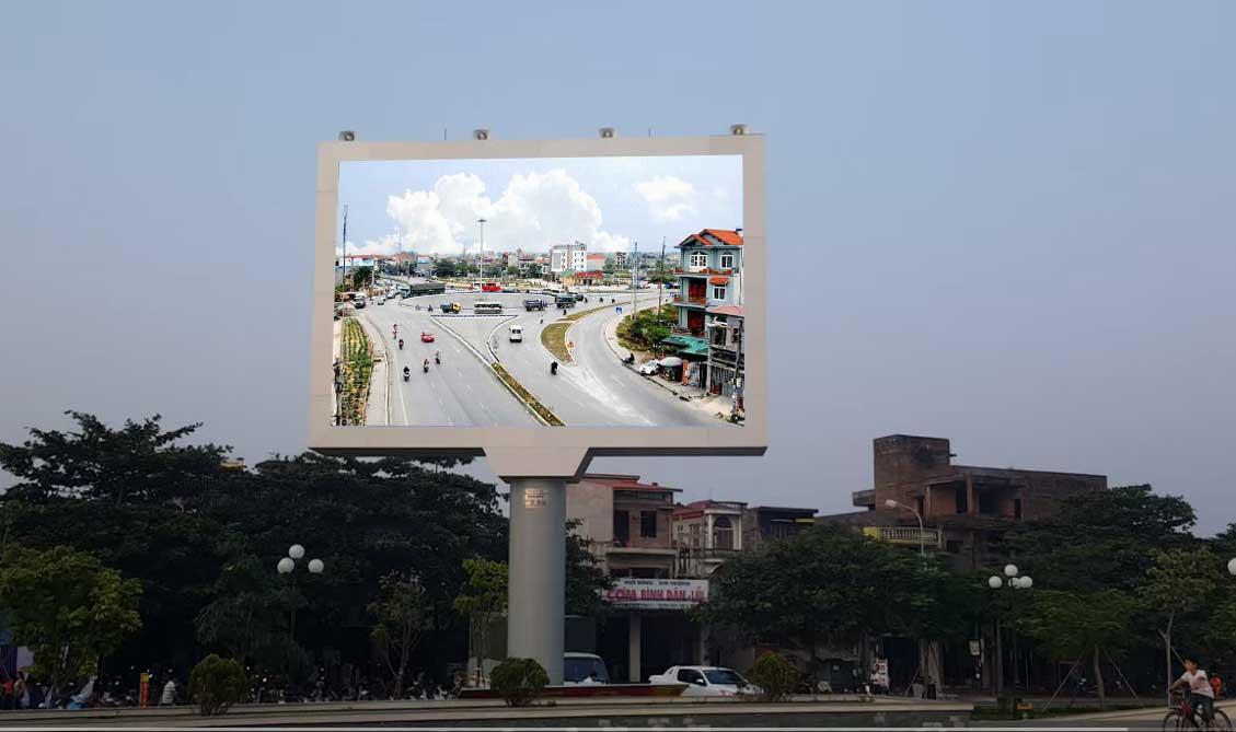 Thi công màn hình Led P8 ngoài trời tại quảng trường thị trấn Hải Hà - Quảng Ninh