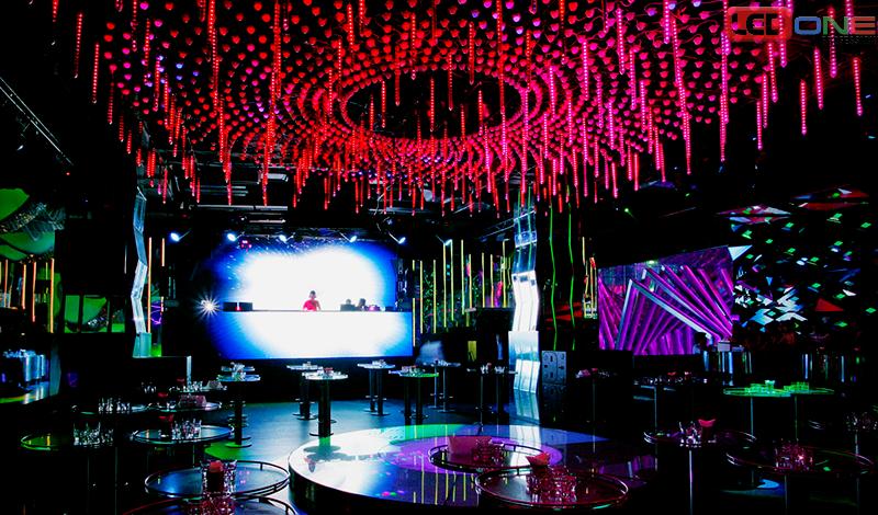 Màn hình LED indoor ấn tượng trong quán bar