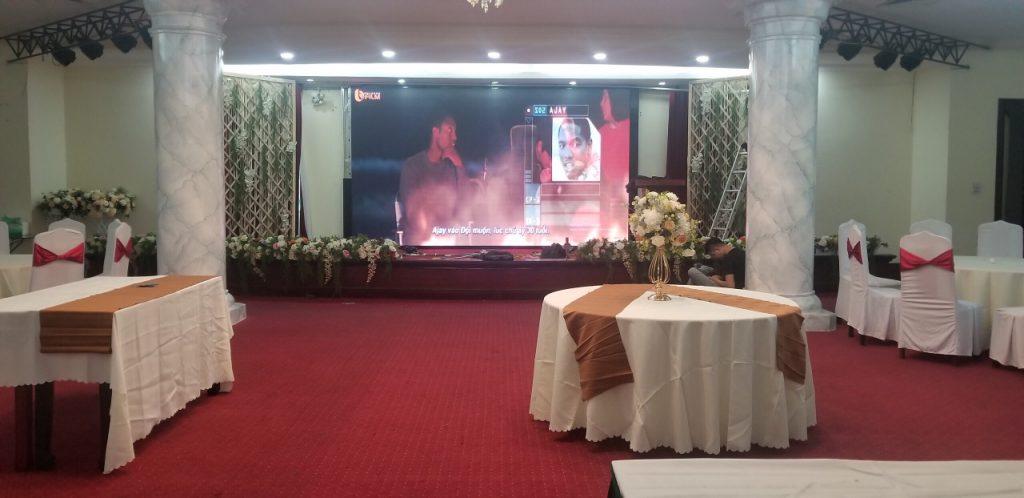 Màn hình led ứng dụng tại hội trường khách sạn
