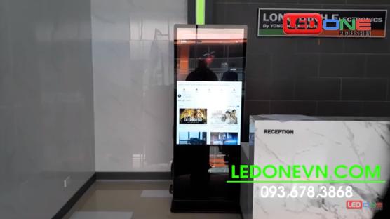 Lắp đặt màn hình LCD chân đứng 55 Wifi cho khu công nghiệp Yên Quang – tỉnh Hòa Bình