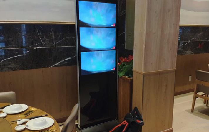 màn hình lcd chân đứng 43 inch tại nhà hàng Ăn được phúc