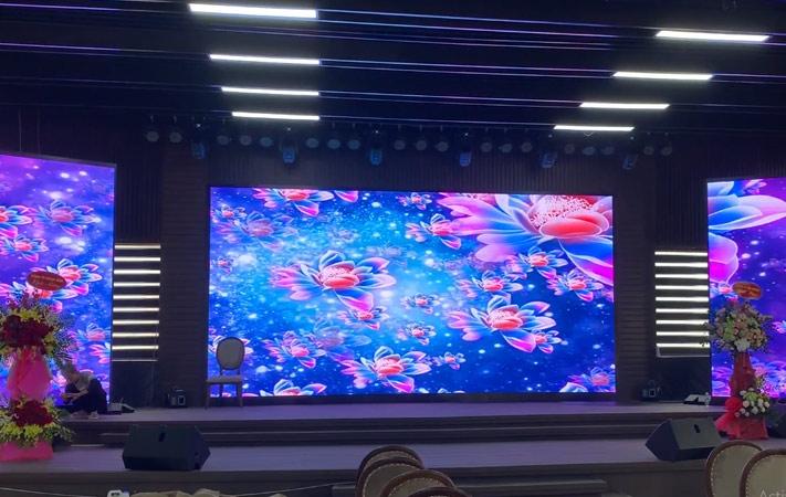màn hình LED p2 trong nhà tại KDDT Phương Đông, vân đồn, Quảng Ninh