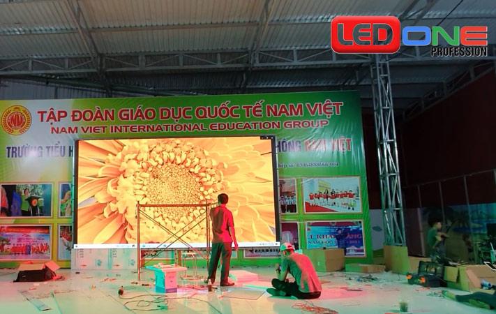 màn hình LED p2 tại tập đoàn giáo dục nam việt