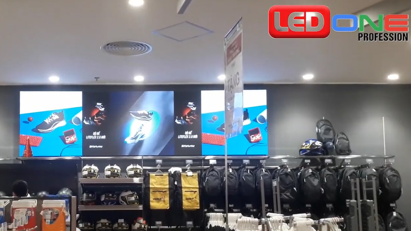 màn hình LED P2.5 Cho hãng thời trang thiết bị thể thao Biti's Việt Nam