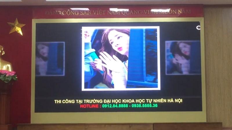 màn hình led p2.5 trong nhà tại đại học khoa học tự nhiên hà nội