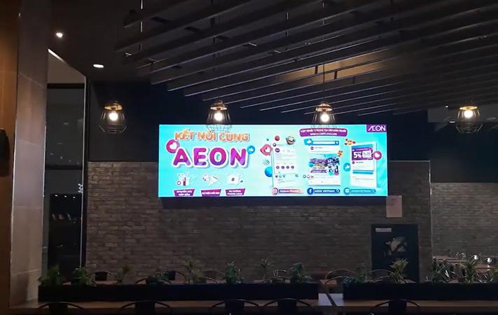 màn hình led p3 tại khu ăn uống aeon mall hải phòng