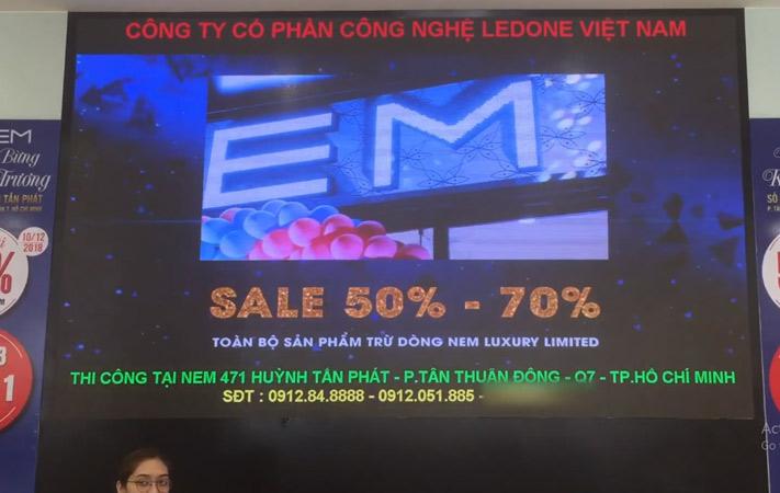 màn hình LED P3 tại NEM Huỳnh Tấn Phát