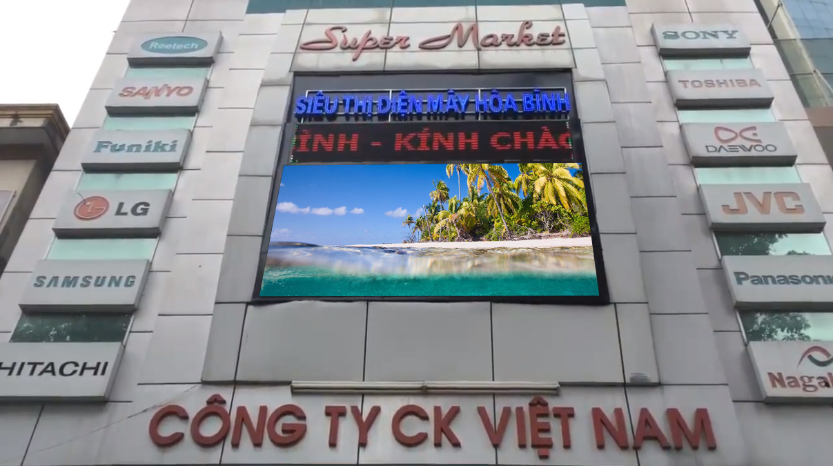 Dự ánmàn hình Led P8 ngoài trời tại quảng trường thị trấn Hải Hà – Quảng Ninh