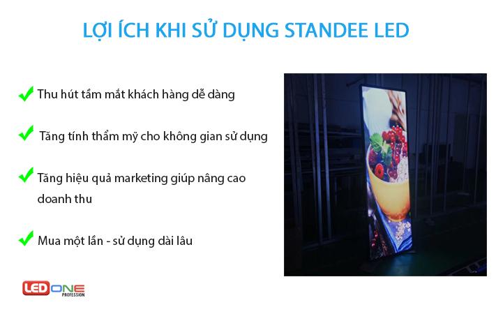 Lợi ích khi dùng standee LED