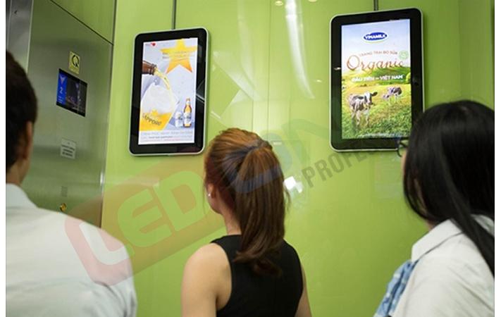 Quảng cáo màn hình trong thang máy
