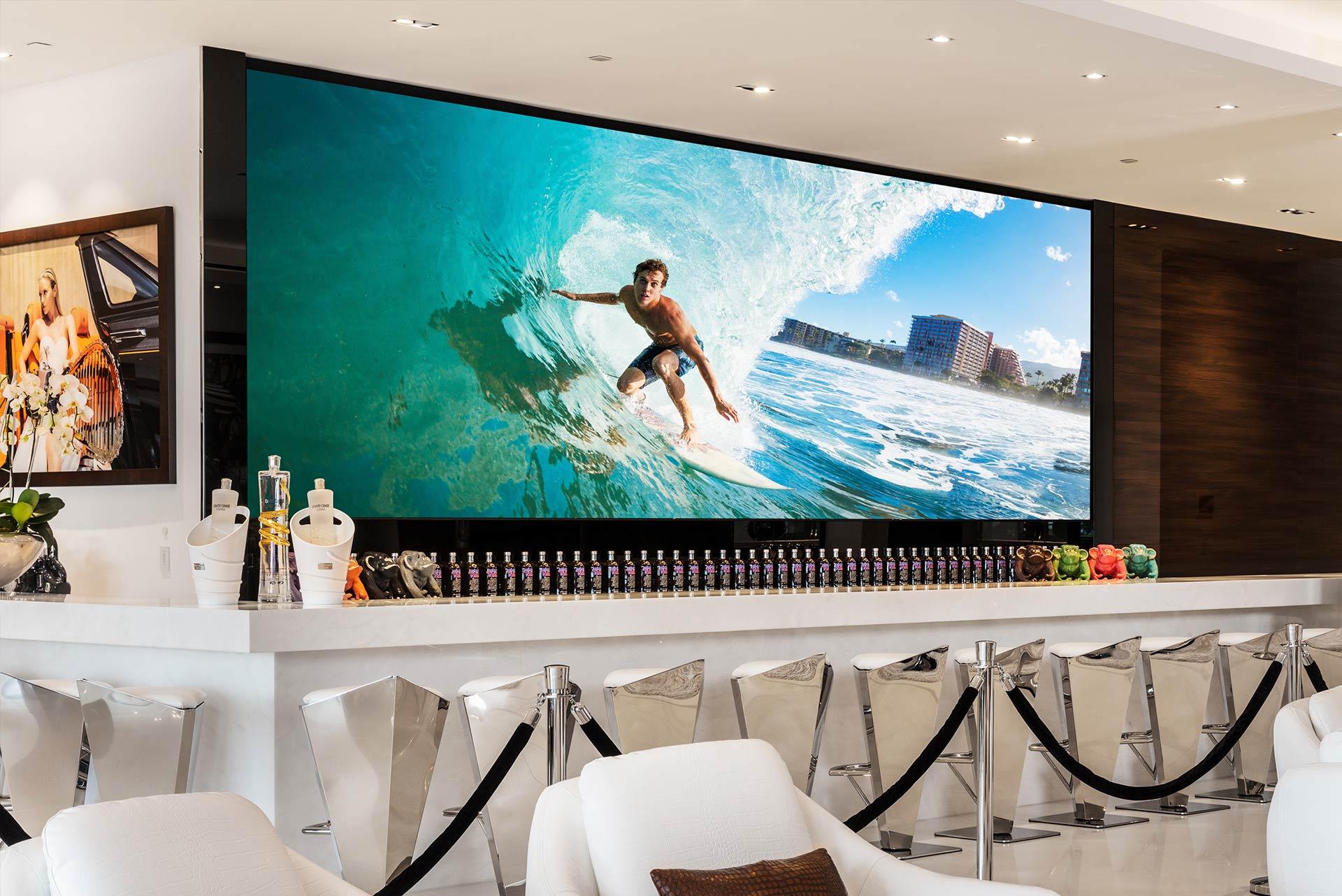 Ứng dụng quảng cáo của màn hình LED P2. 976 trong nhà