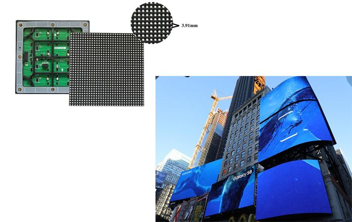 Các loại màn hình LED P3.91 ngoài trời