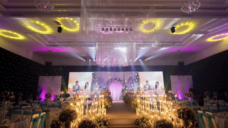 Thi công màn hình LED tiệc cưới đẹp mắt
