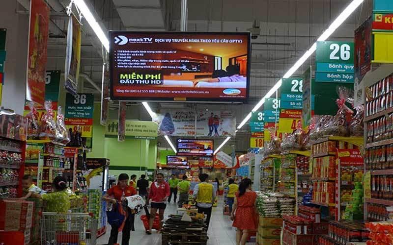 Giải pháp màn hình quảng cáo cho siêu thị - trung tâm thương mại
