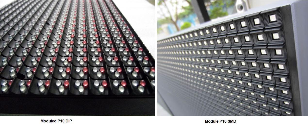 Module P10 full color DIP và SMD