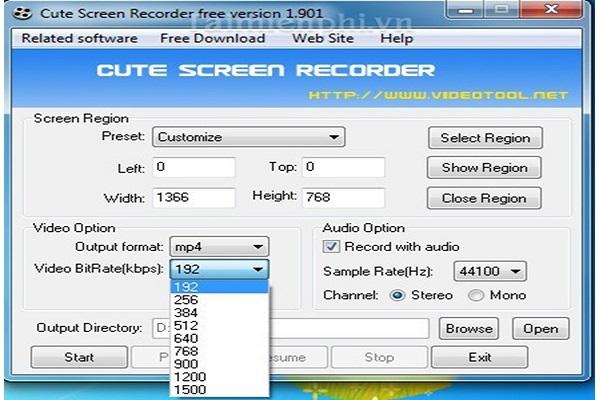 quay màn hình bằng phần mềm cute screen