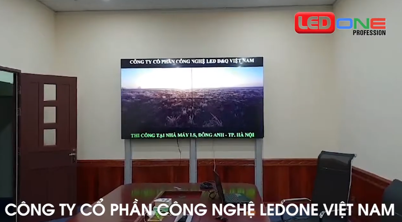 Thi công lắp đặt 4 màn hình ghép 46 inh tại Công ty LS ELECTRIC Việt Nam
