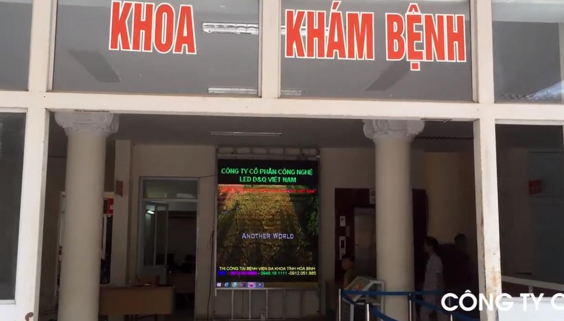 Thi công lắp đặt màn hình Led P3 tại sảnh vào khoa Khám bệnh BV Đa khoa tỉnh Hòa Bình