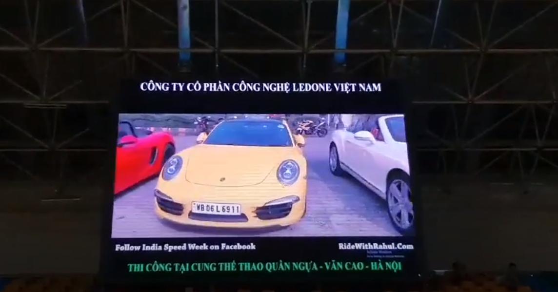 Thi công lắp đặt tại màn hình led P4 tại cung thể thao Quần Ngựa, Ba Đình, Hà Nội