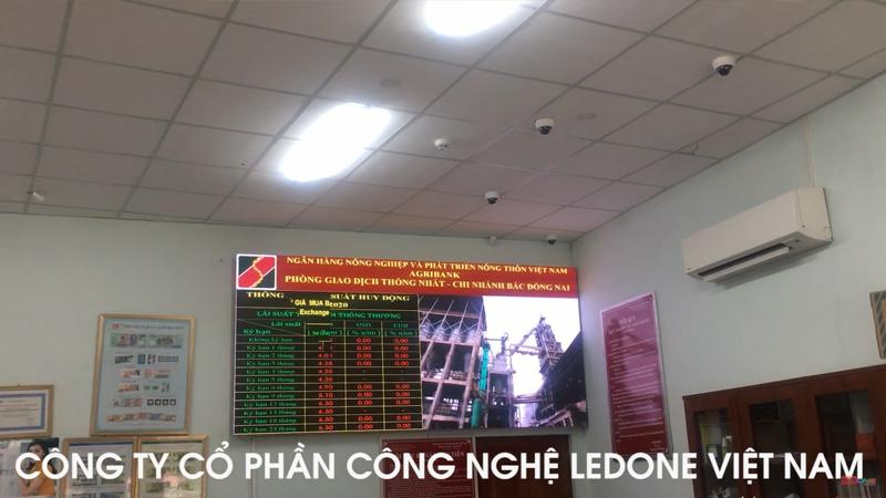 màn hình led p3 tại agribank long bình