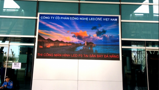 Thi công màn hình LED P3 ngoài trời tại sân bay Đà Nẵng