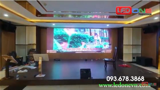 Thi công màn hình LED P3 trong nhà cho Agribank Quận 4, Tp. HCM.