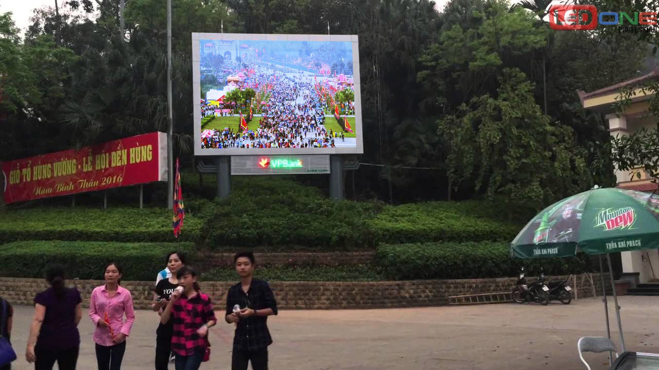 Thi công màn hình led p4 ngoài trời tại Đền Hùng - Phú Thọ