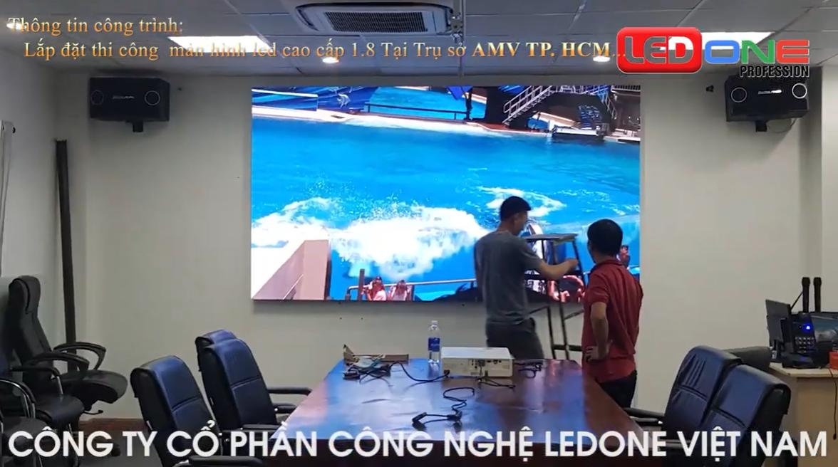 Thi công màn hình Led phòng họp tại Tp Hồ Chí Min