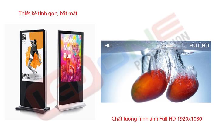 Tính năng màn hình LCD chân đứng