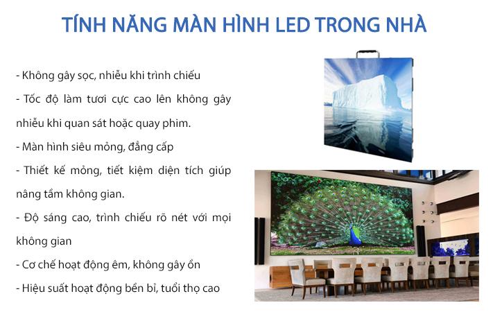 Tính năng của màn hình LED trong nhà