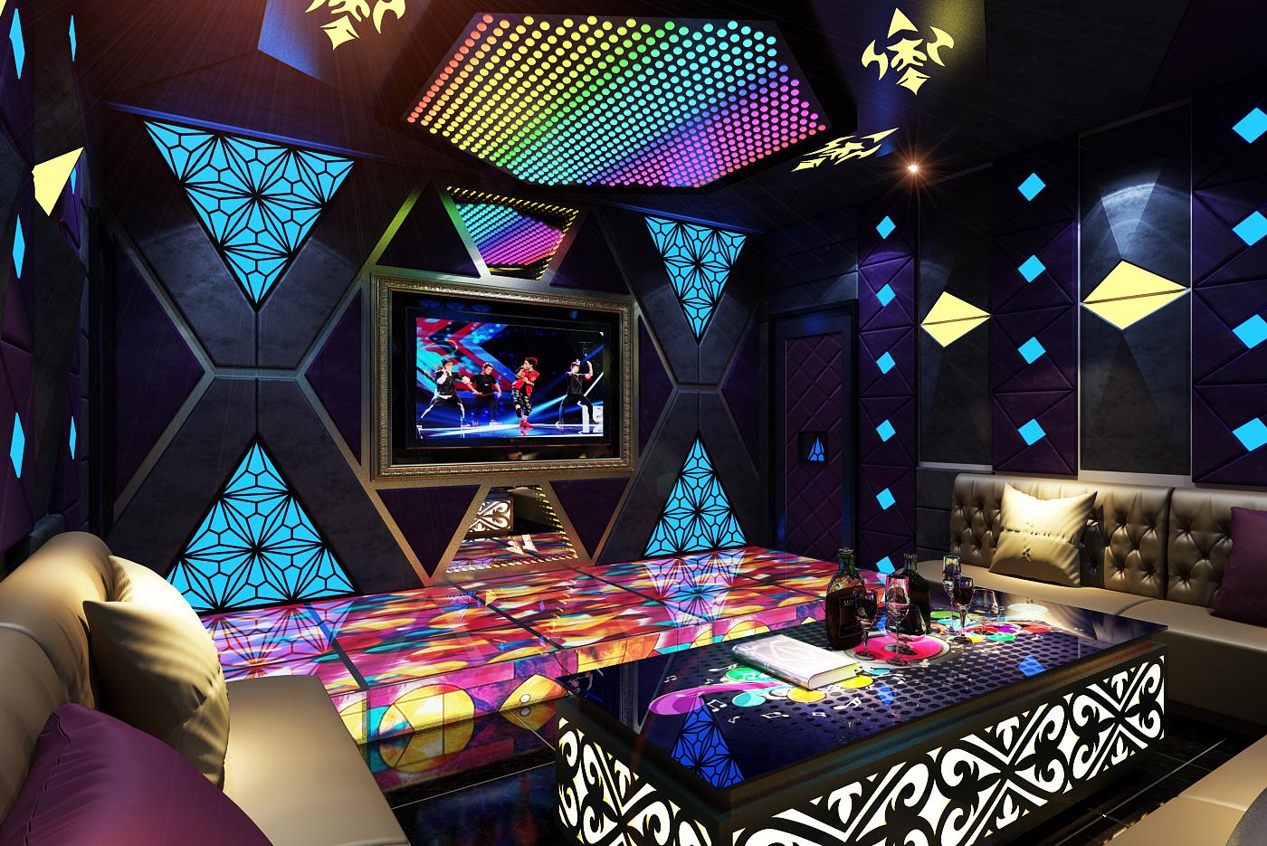 Màn hình LED trang trí quán bar, karaoke