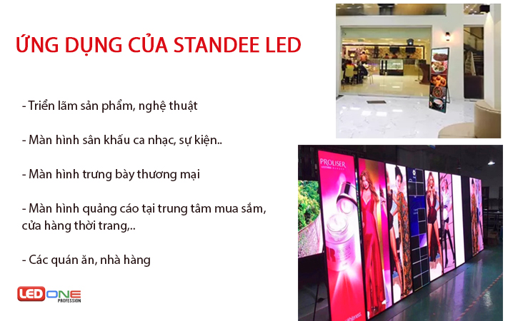 Ứng dụng của standee LED