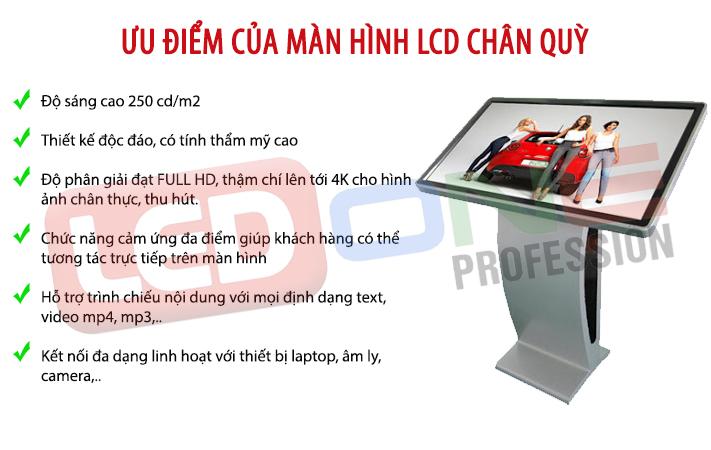 ưu điểm màn hình LCD chân quỳ