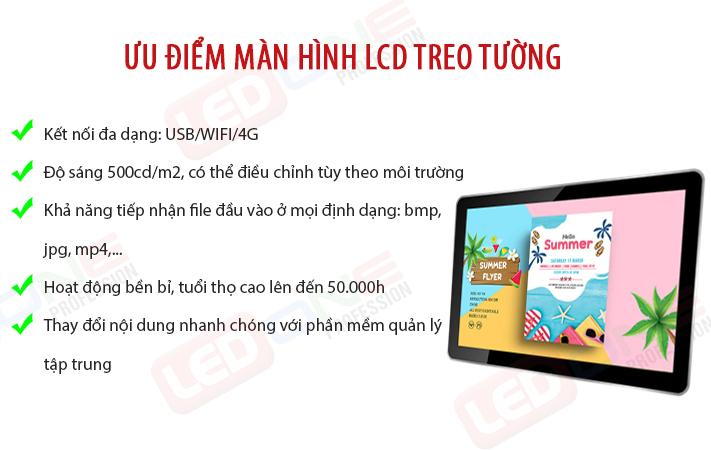 ưu điểm màn hình LCD treo tường