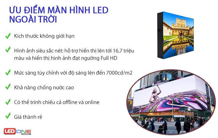 Ưu điểm màn hình LED ngoài trời