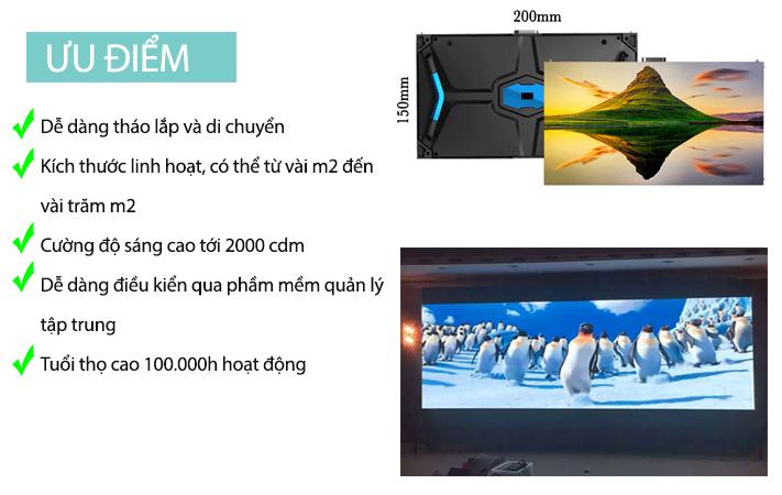 Ưu điểm màn hình LED P1.6
