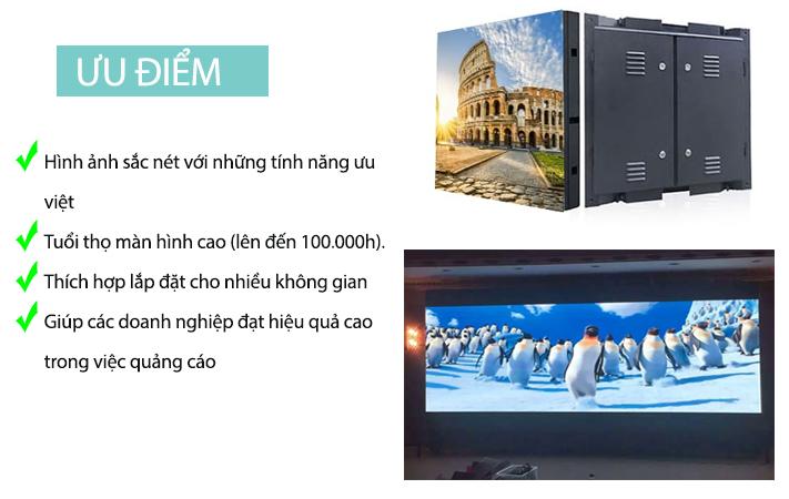 Ưu điểm màn hình LED P1.66