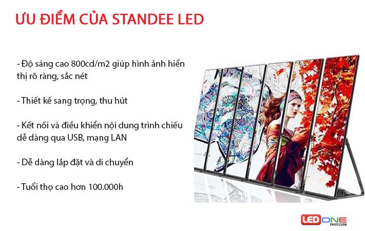 Ưu điểm standee LED